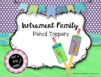 Instrument Family Pencil Toppers--Reward or Review Orchest
