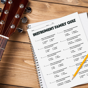 Instrument Family Quiz