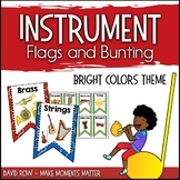 Instrument Flags - Bunting for the Music Classroom - Brigh