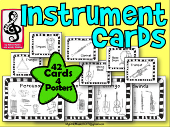 Instrument Flash Cards and Family Posters