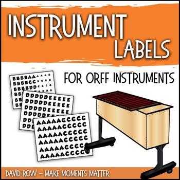 Instrument Labels for Inside your Barred Instruments