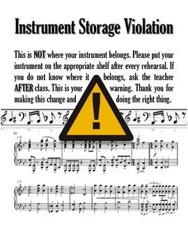 Instrument Storage Violation: Band or Orchestra