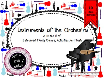 Instrument of the Orchestra-A BUNDLE of 10 activites, game