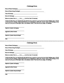 Instrumental Music Seating Challenge Form