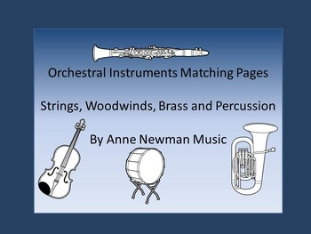 Instruments of the Orchestra Matching Activity