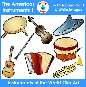 Instruments of the World - The Americas Instruments Clip Art