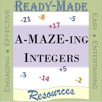 Integer Addition Maze FREEBIE