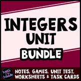 Integer Bundle - Includes Games, Task Cards, Test, and Dif