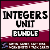 Integer Bundle - Includes Games, Task Cards, Test, and Dif