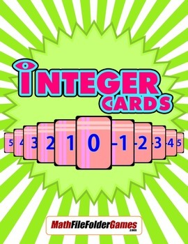 Integer Cards = Numbers from -100 to +100