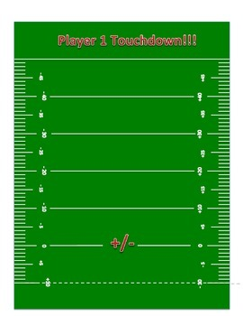 Integer Football: Add and Subtract Integers