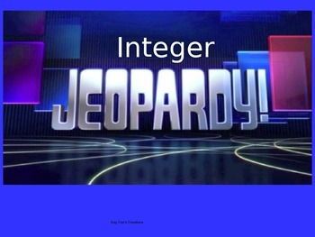 Integer Jeopardy Game