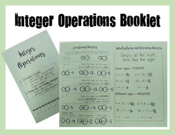 Integer Operation Booklet
