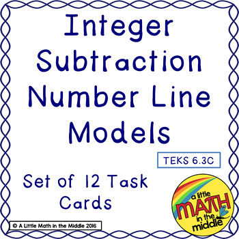 Integer Operation Number Line Models TEKS 6.3C