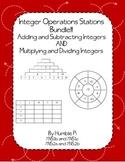 Integer Operation Stations Bundle-7.NS.1b,7.NS.1c, 7.NS.2a