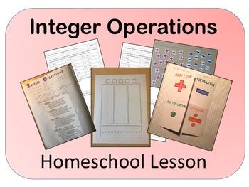 Integer Operations Homeschool Lesson