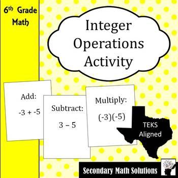 Integer Operations Activity (Amazing Race)