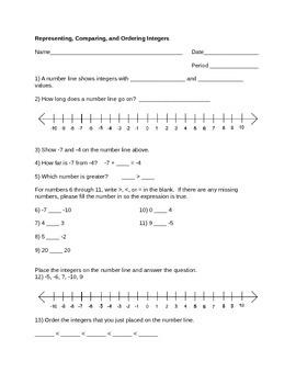 Integer Operations Bundle (12 pages!)