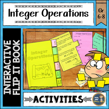 Integers Interactive Flip It Book