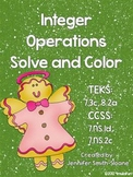 Integer Operations Solve and Color