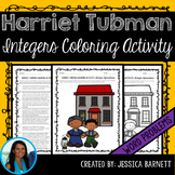 Integer Operations Word Problems Coloring Activity Harriet