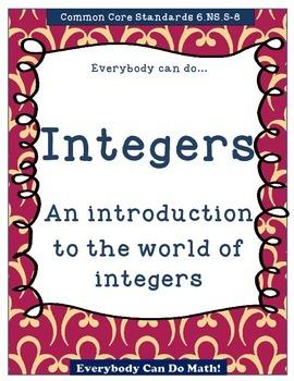 Integer Practice:  Homework or Worksheets