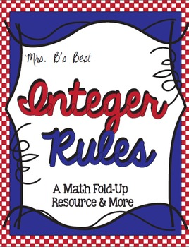 Integer Rules: Fold-Up Resource & More