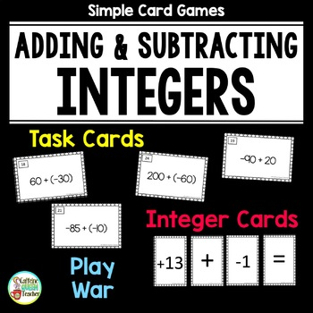 Integer Activities For Adding and Subtracting Positive and