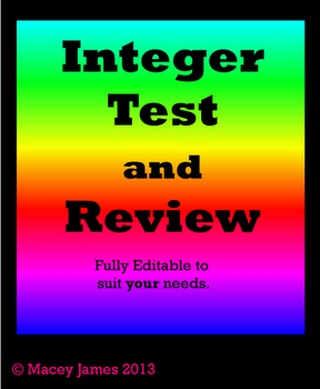 Integer Test and Review