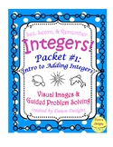 Integer Worksheet: Intro to Adding Integers