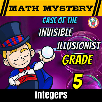 Integers Math Mystery Activity: Opposites, Ordering and Co