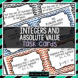Integers & Absolute Value: 30 Task Card