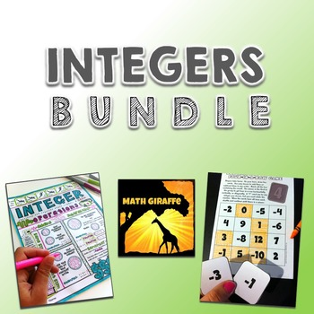 Integers Activity Bundle