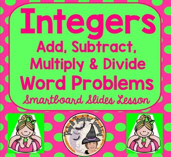 Integers Add Subtract Multiply Divide Word Problems Smartb