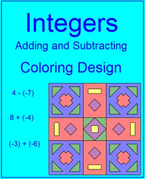 Integers -Adding and Subtracting Coloring Activity