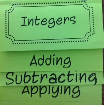 Integers: Adding and Subtracting Flipbook