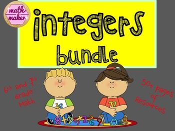 Integers Bundle ~ 6th and 7th Grade Math