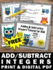 FREE Adding and Subtracting Integers Video & Worksheet Mat