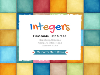 Integers Flashcards for 6th Grade [Printable]