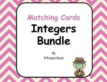 Integers Matching Cards Bundle
