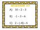 Adding, Subtracting, Multiplying, & Dividing Integers Stat