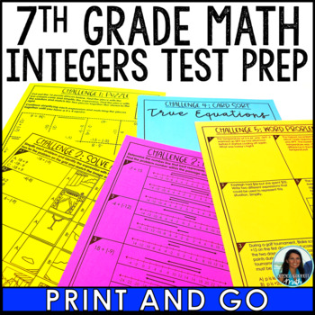 Integers Test Prep Activities