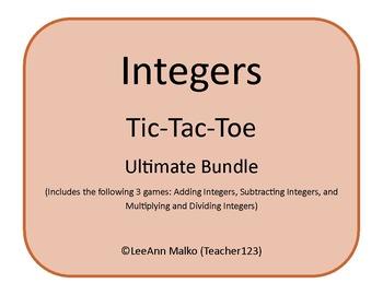 Integers Tic-Tac-Toe - Ultimate Bundle
