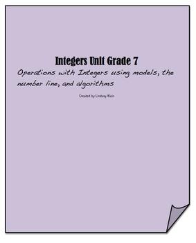 Integers Unit