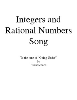 Integers and Rational Numbers Song