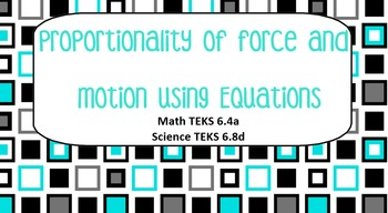 Integrated Math Science Lesson Proportionality