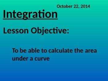 Integration area under curves (Math 3 Pre-cal)