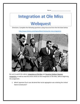 Integration at Ole Miss - Webquest and Video Analysis with Key