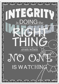 Integrity Poster - Simpsons Theme