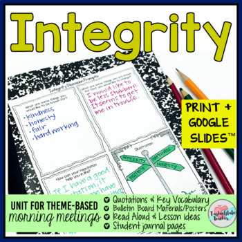 Morning Meeting Integrity and Character Theme